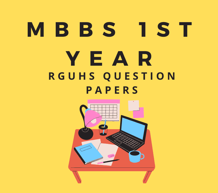 1st Year MBBS Question Papers RGUHS PDF Download