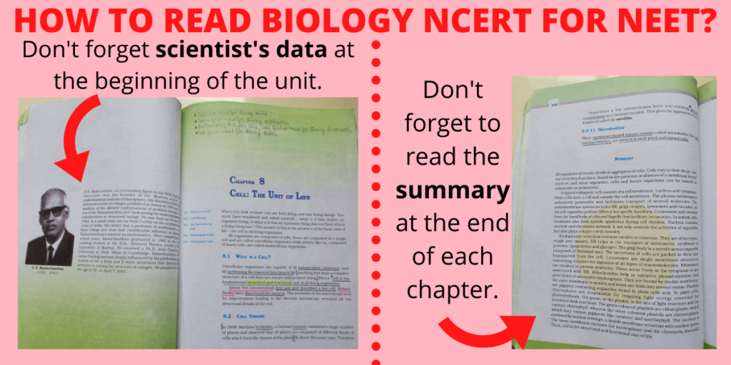 why ncert biology scientist name and data and chapter summary are important for neet and should not be skipped