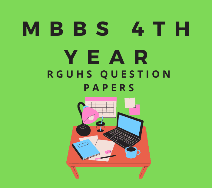 Final Year MBBS RGUHS Question Papers PDF Download